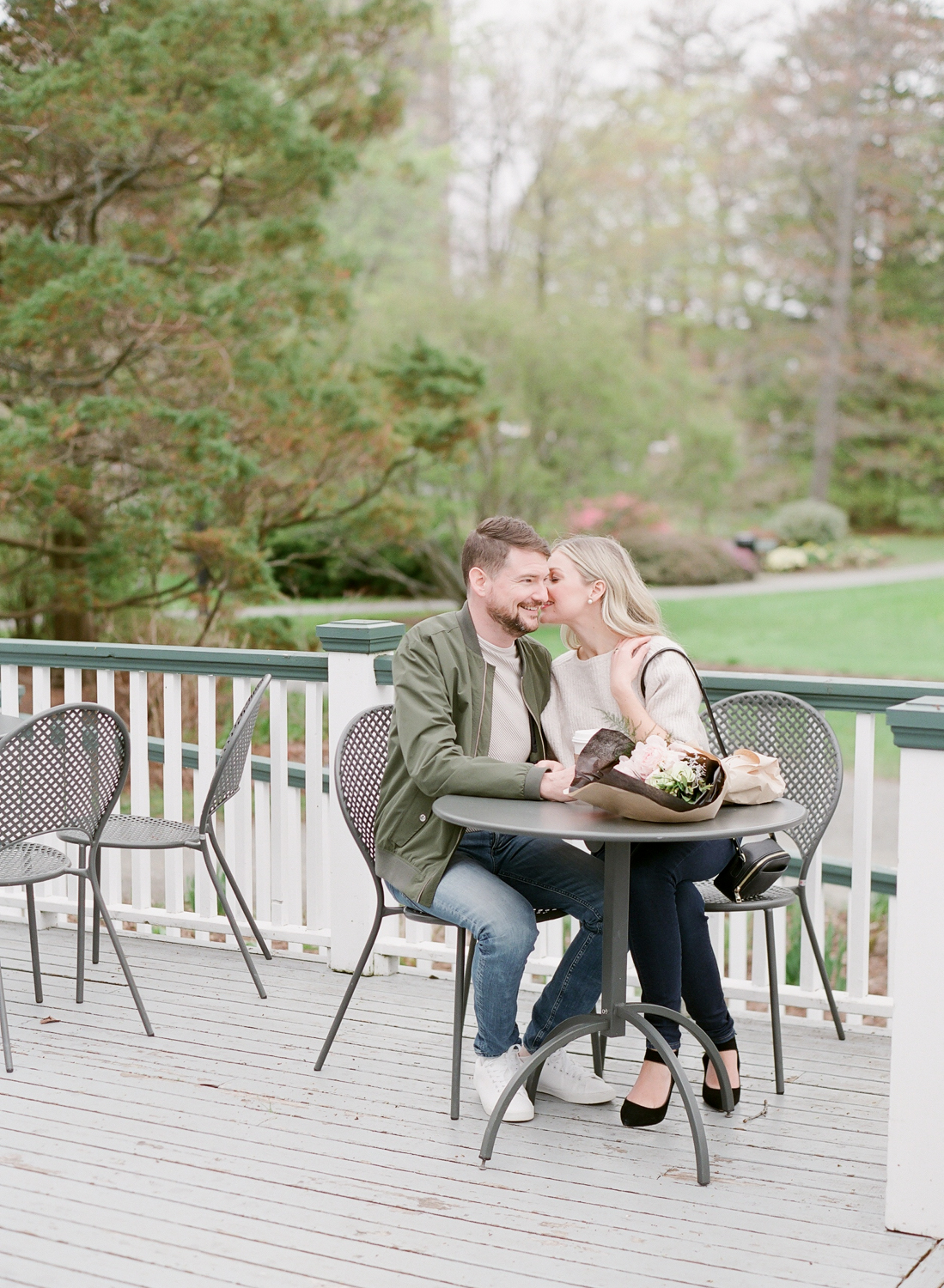Halifax Engagement Session in Halifax Public Gardens captured on Film, Jacqueline Anne Photography, Napthali Carleton Makeup