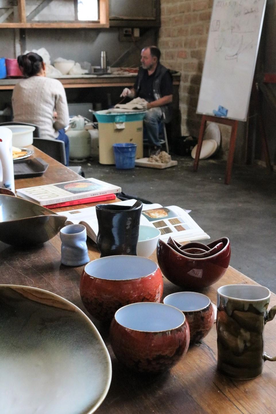 Brian Keyte Workshop: Wheel Throwing & Glazing, Skepsi @ Montsalvat, April 2017