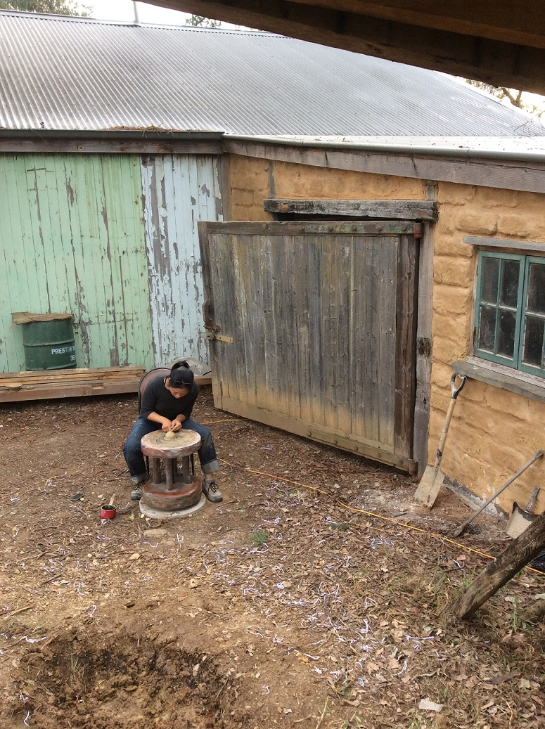 Kirk Winter & Yuri Wiedenhofer: Wood Fire Kiln Building and Firing Workshop, Skepsi @ Montsalvat, May 2016