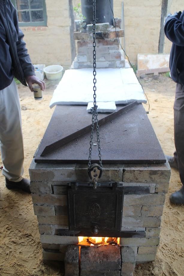 Owen Rye: Wood Fire Kiln Building Workshop, Skepsi @ Montsalvat, September 2013