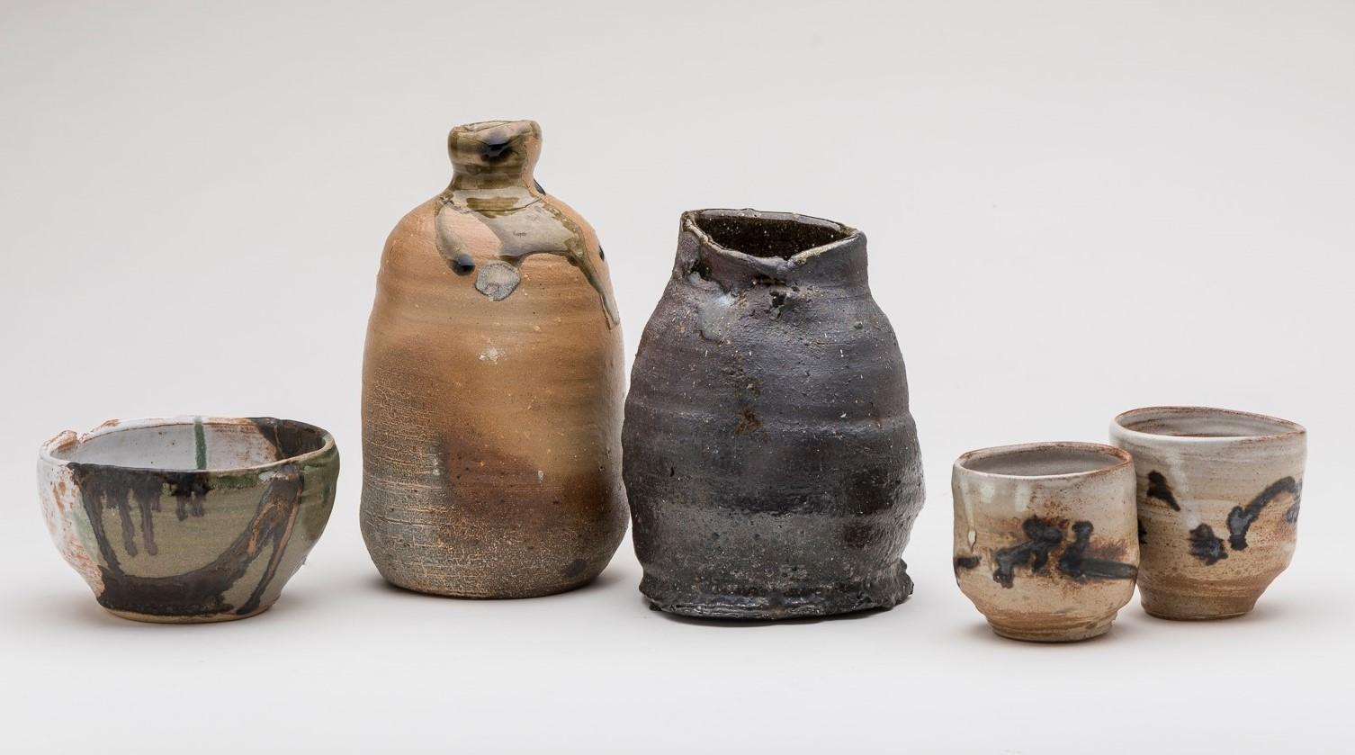 Milton Moon, Chawan (tea bowl), bottle, vase, yunomi, tallest h22cm. Photo Christopher Sanders.jpeg