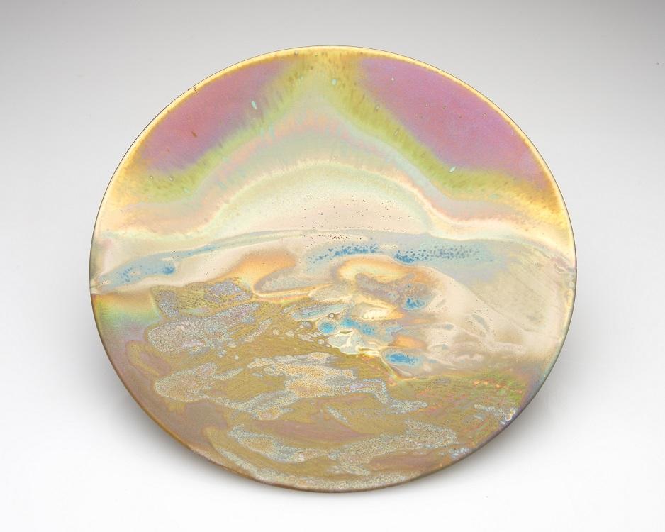 Greg Daly, Before the Sun, lustre glazed ceramic platter, 55 mmH x 355 mmD.jpg