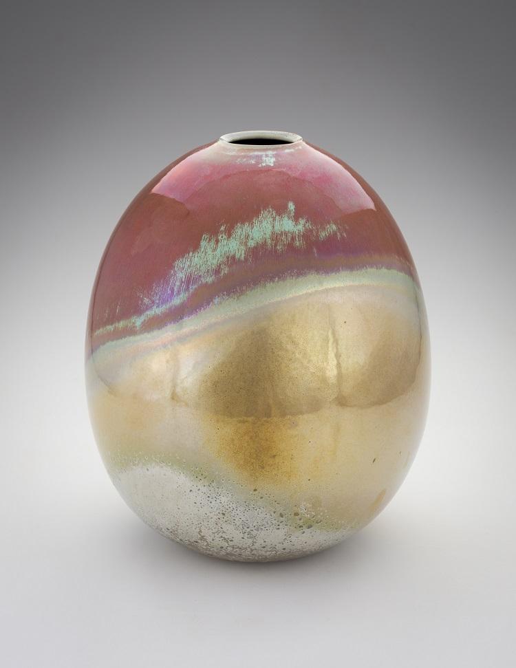 Greg Daly, Red Sky Warning, lustre glazed ceramic vase, 360 mmH x 280 mmD.jpg
