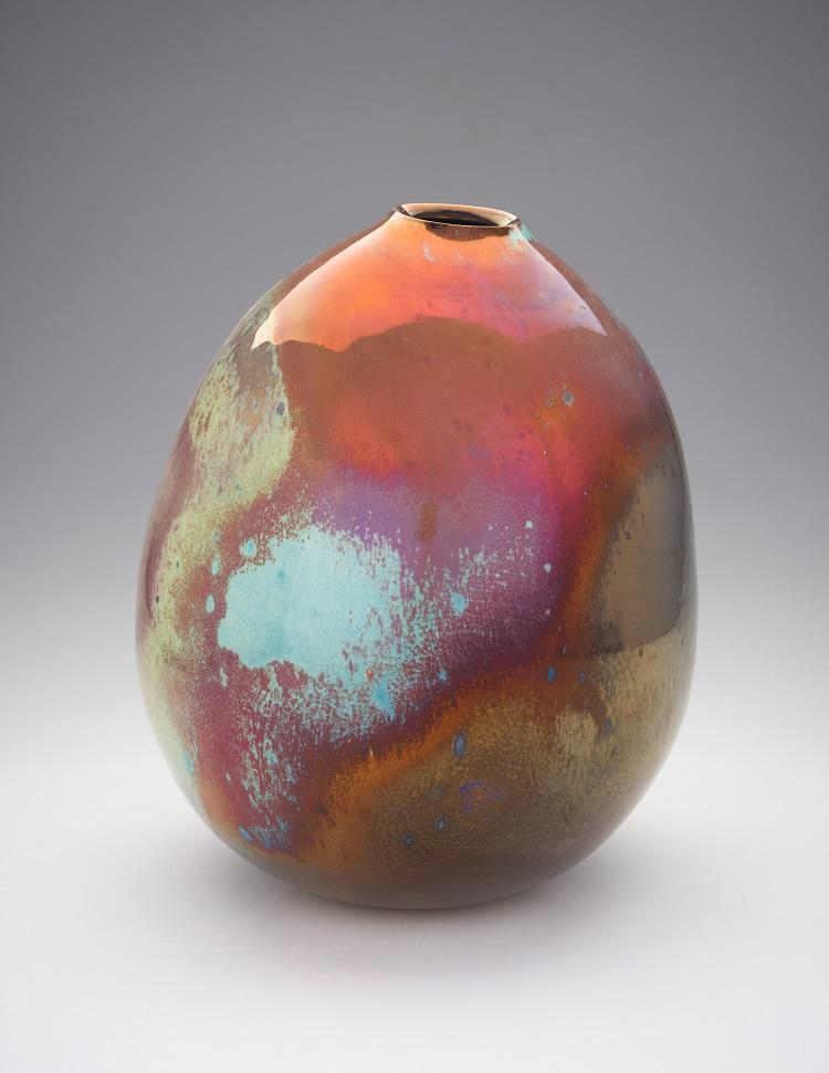 Greg Daly, Sunset Haze, lustre glazed ceramic vase, 310 mmH x 240 mmD.jpg