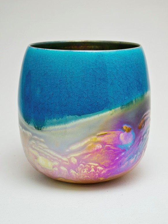 51. Clear Skies, lustre glazed ceramic work, H22 x W20cm.jpg