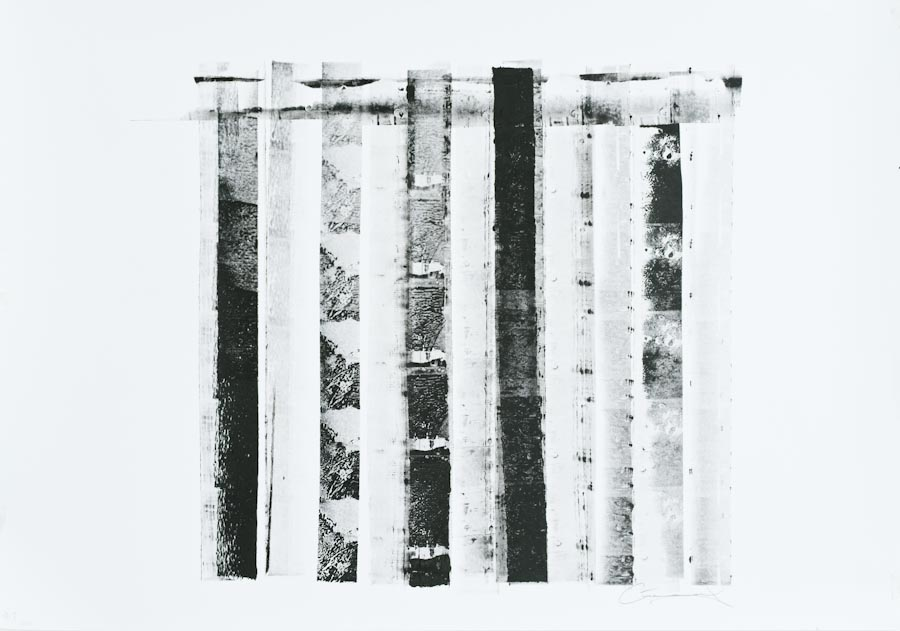 Columns I - Variations on a Theme, 2011, ink on paper by Victor Greenaway