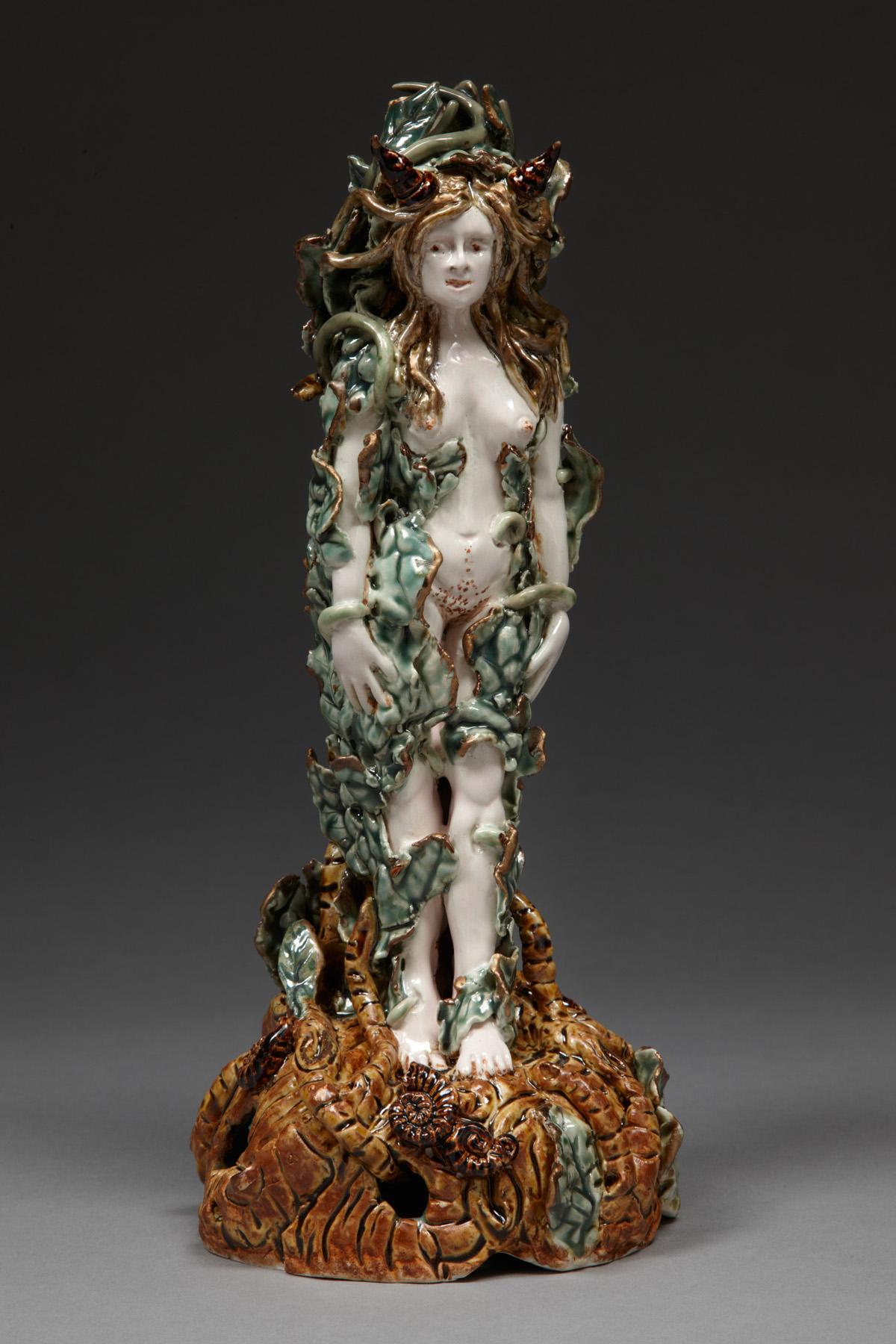Alone, 2009, stoneware, glaze, lustre, H 28cm x W 12cm.jpg