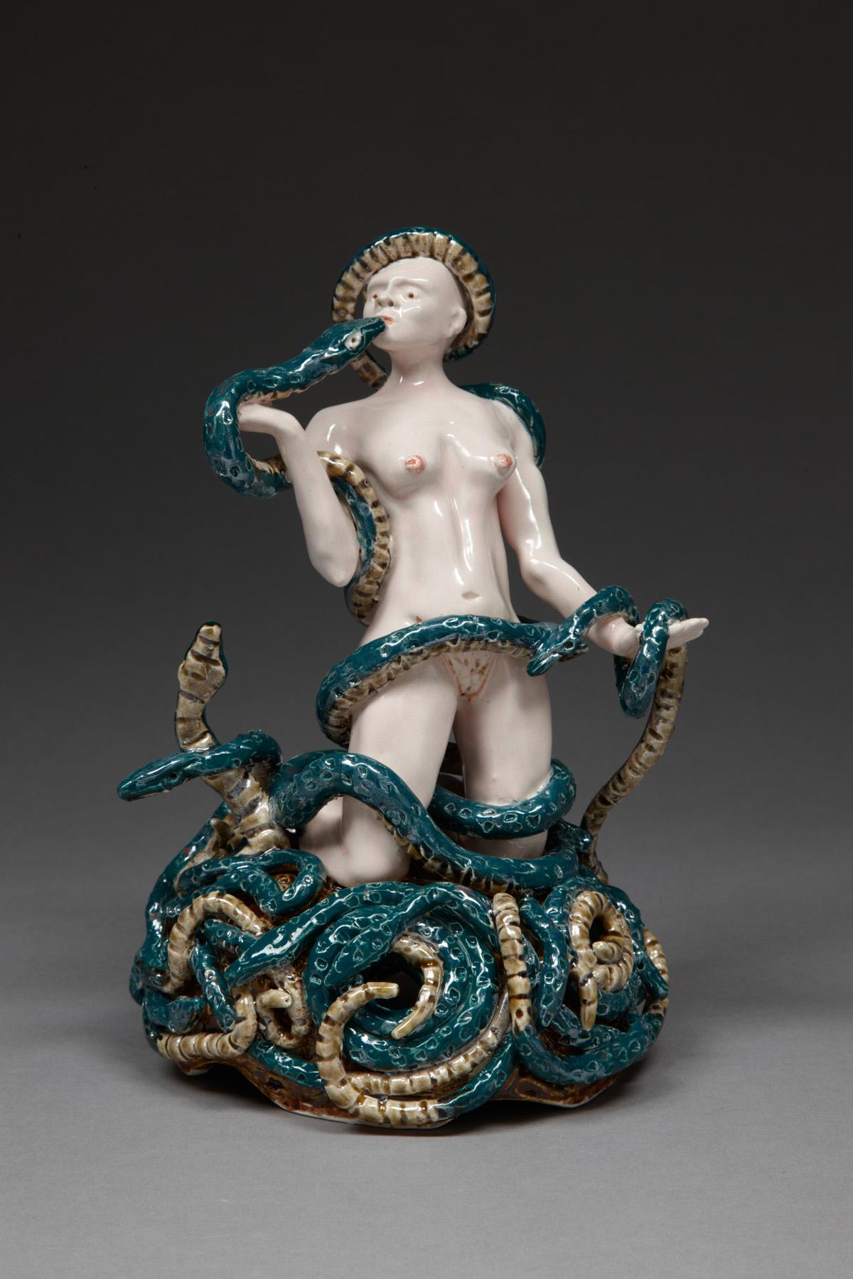 The Embrace, 2010, stoneware, glaze, lustre, H 21cm x W 16cm .jpg