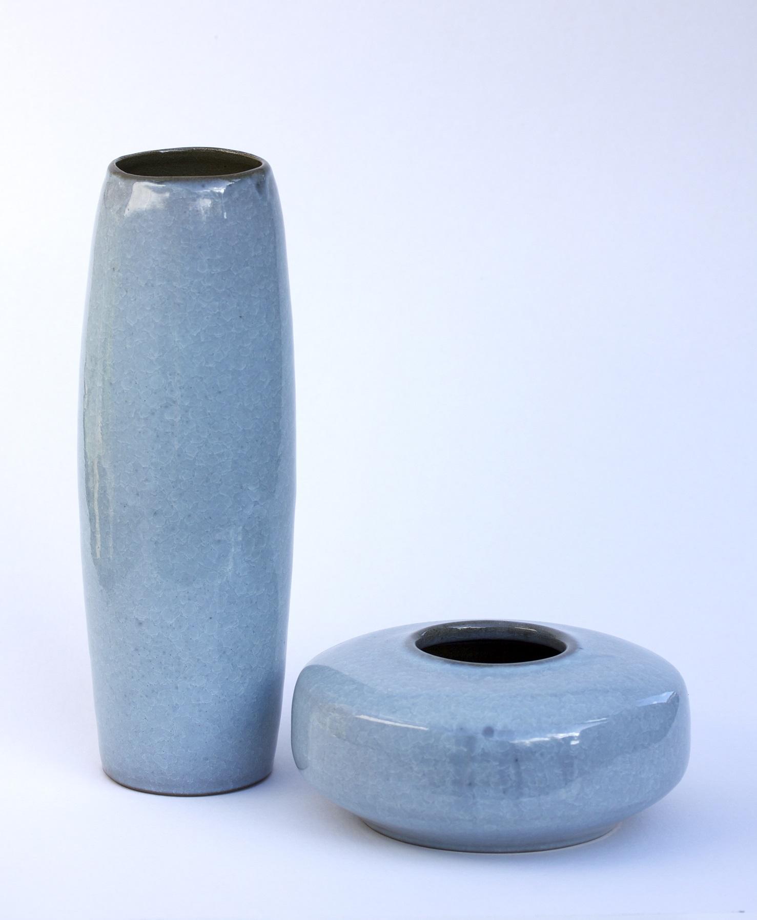 Vase Series, fishscale glaze, varying sizes, 300mm h.jpg