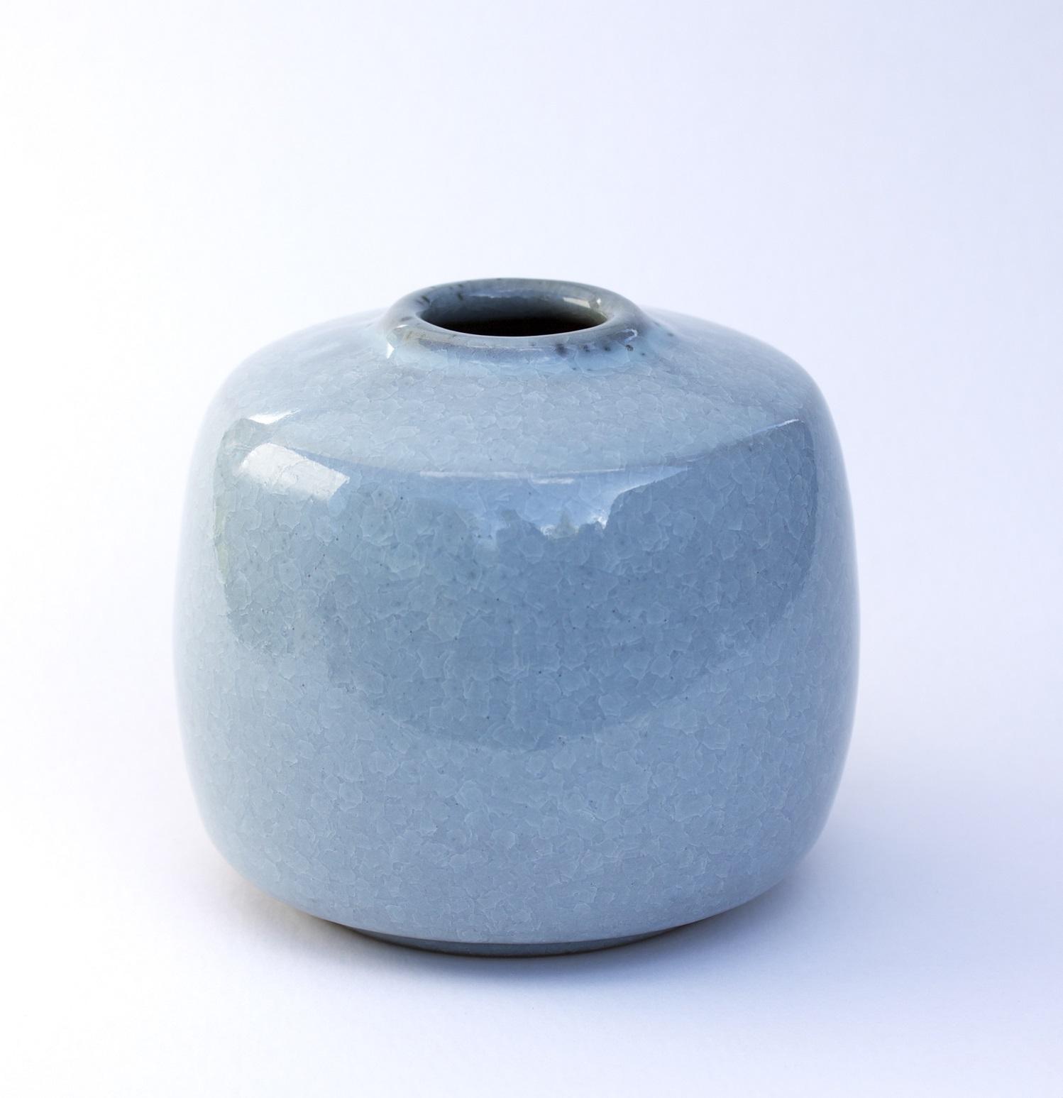 Vase Series, fishscale glaze, varying sizes.jpg