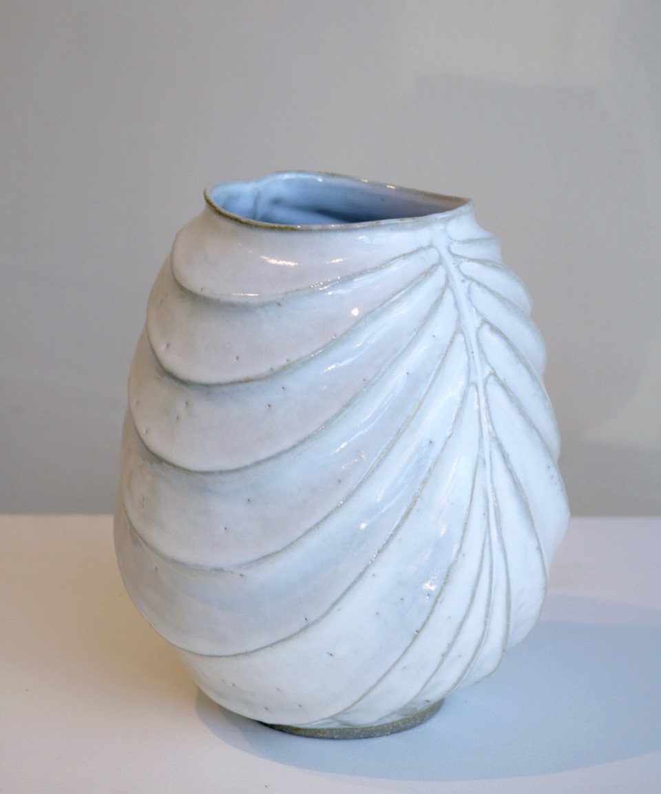 Terunobu Hirata,  White Robe,  stoneware, shirahagi glaze, H20.5cm, 2017 AVAILABLE