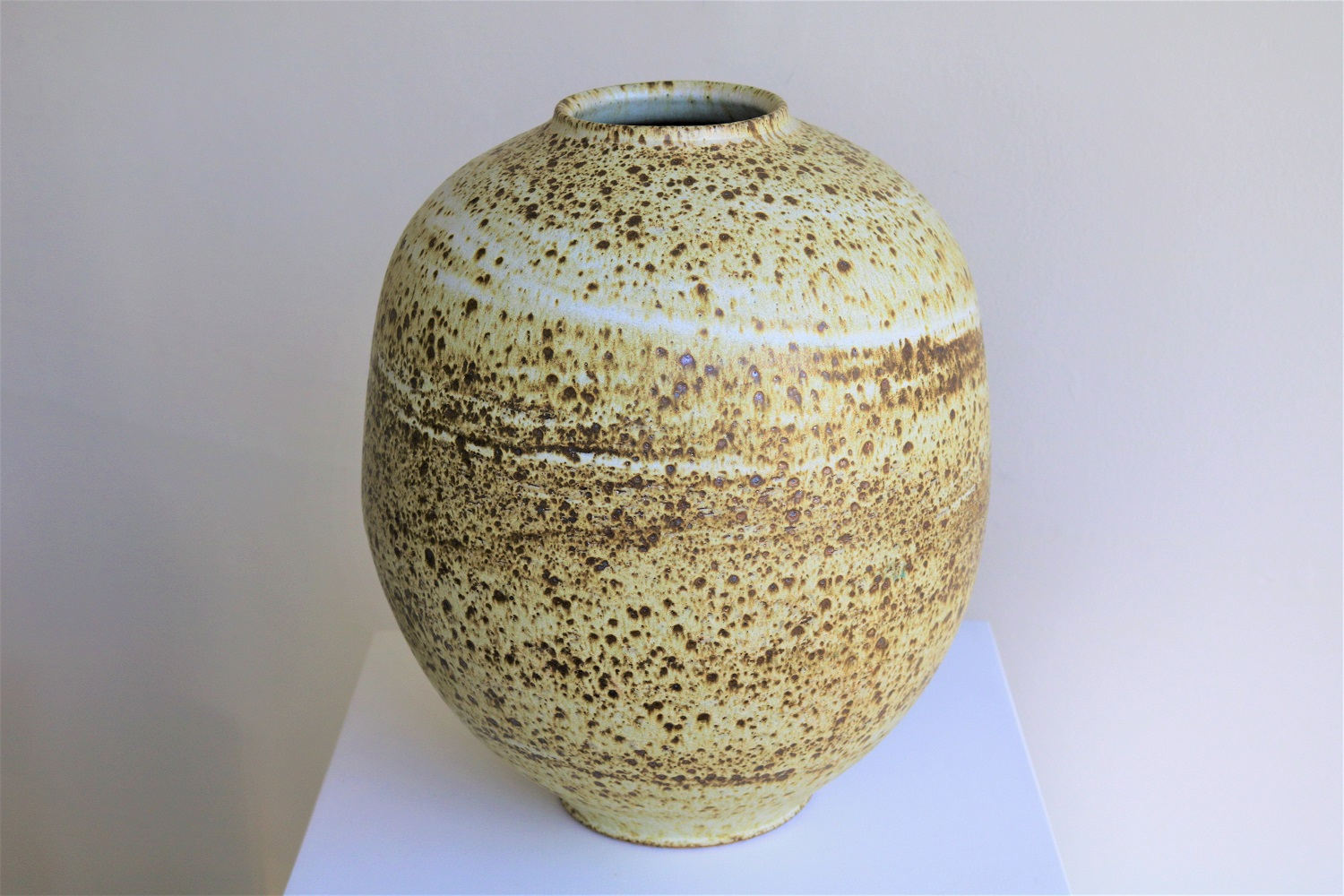 Arnaud Barraud,  Large Vase,  stoneware, iron oxide, glaze SOLD