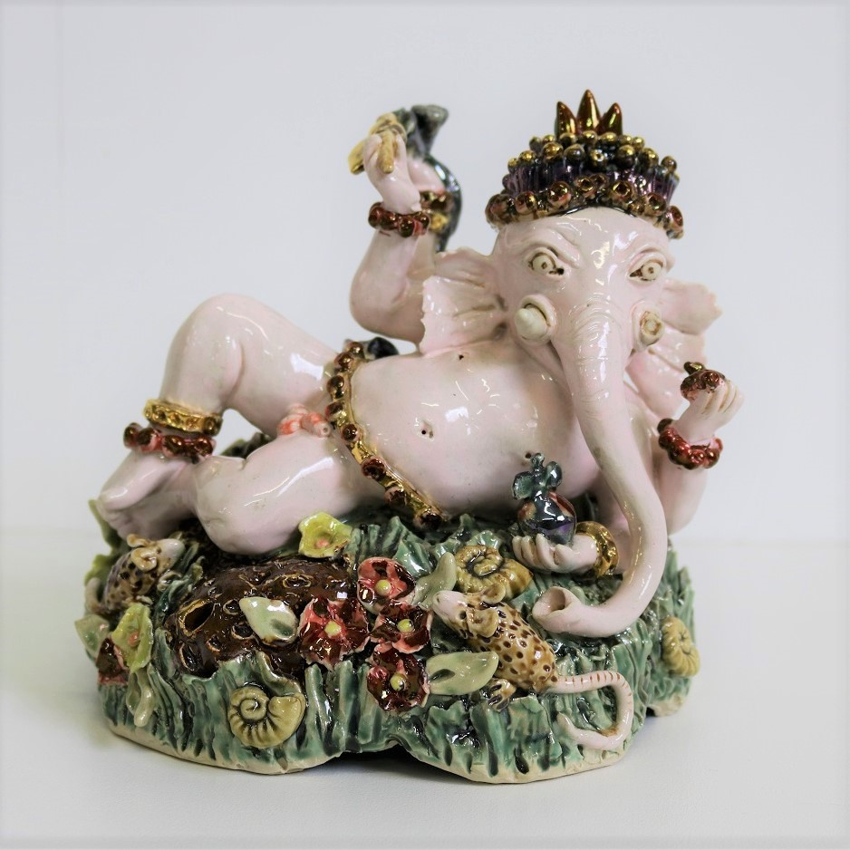 Ganesha (Cambodian Series), 2014, stoneware, glaze, lustre, H18 x W18 x D17cm AVAILABLE