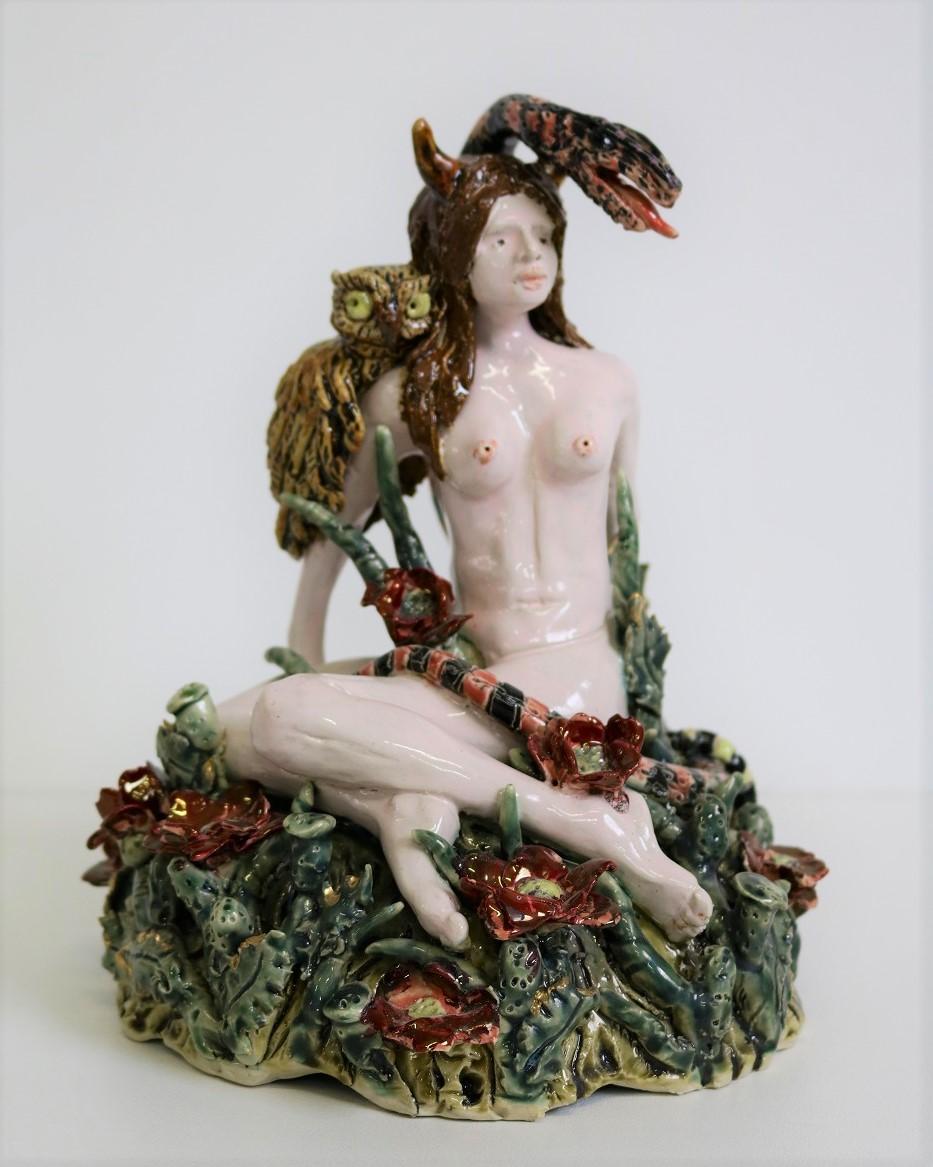 Lilith, 2017, stoneware, glaze, lustre, H24 x W17 x D17cm AVAILABLE