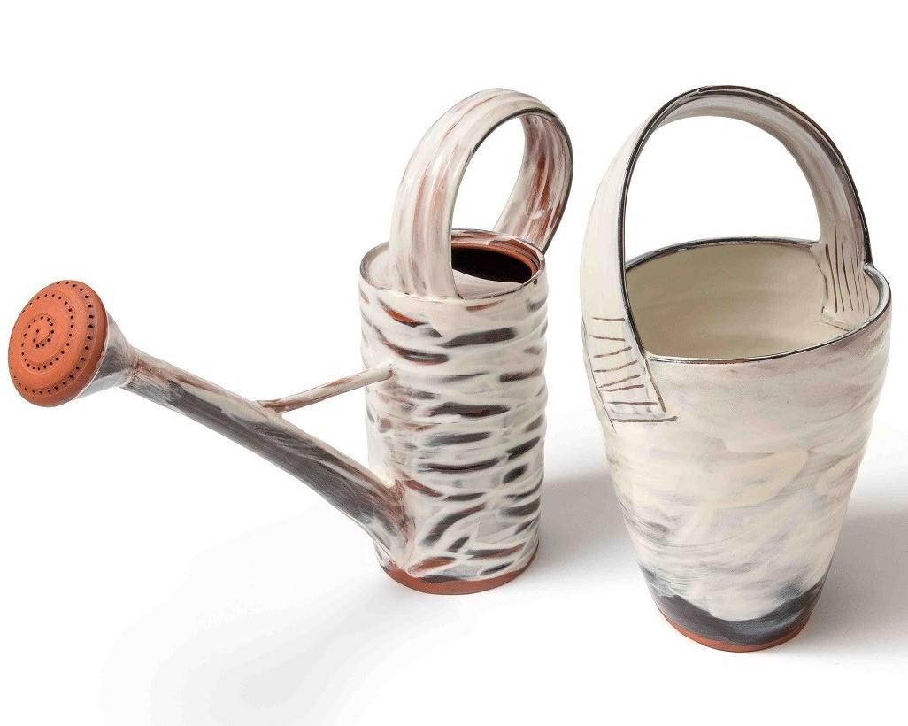 Jane Sawyer, Rain Shadow, red earthenware, slips, transparent glaze.jpg