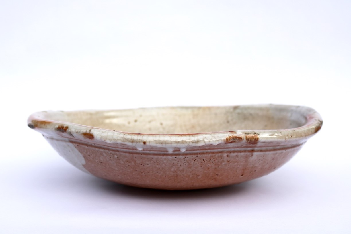 Kirk Winter 9.  Feldspar Bowl,  2013, wood fired stoneware, Hallam fire clay, Clunes feldspar, H 11 x Dia 39.5cm SOLD