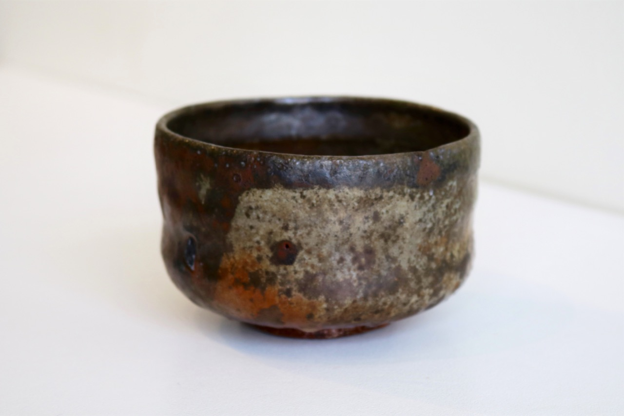 Kirk Winter   24.  Horse Shoe Lustre Bowl,  2017, wood fired stoneware, Clunes feldspar on Hallam fire clay SOLD