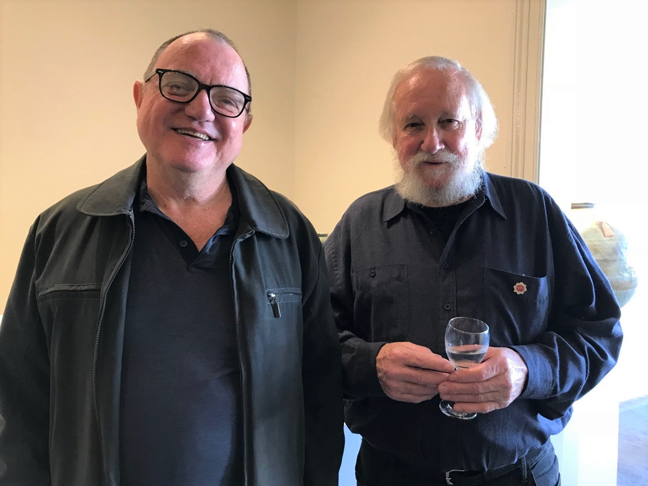 Kirk Winter & Yuri Wiedenhofer Exhibition Opening, June 2018. Brian Keyte and Owen Rye (opening speaker).
