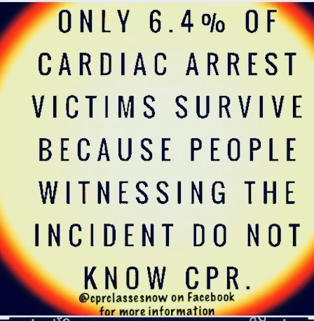EFFECTIVE CPR PERFORMED WITHOUT DELAY SIGNIFICANTLY INCREASES SURVIVAL RATES!  - LEARN HOW TO SAVE  A LIFE!