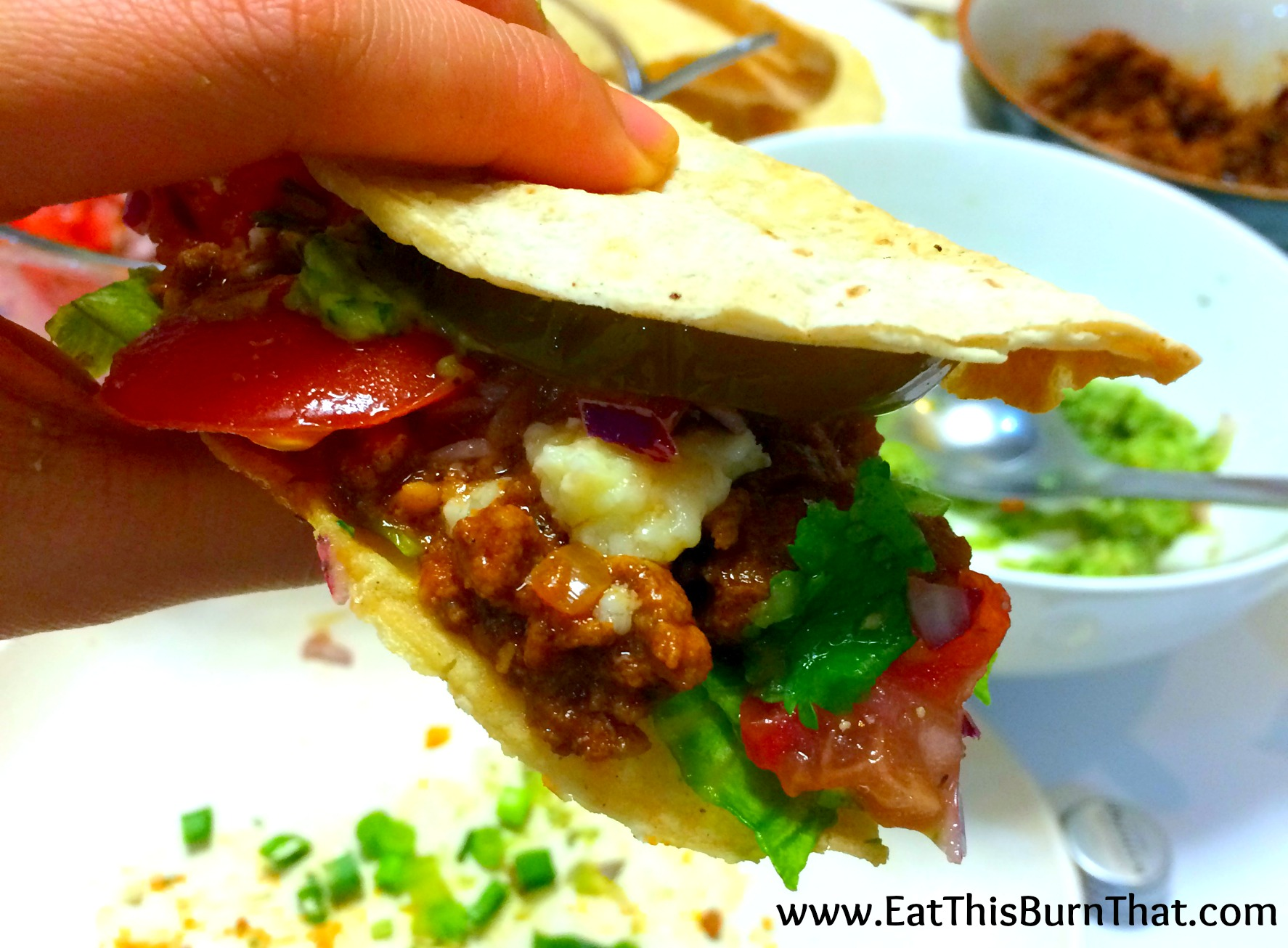 Homemade Healthy Beef Tacos - made out of fresh, wholesome ingredients!