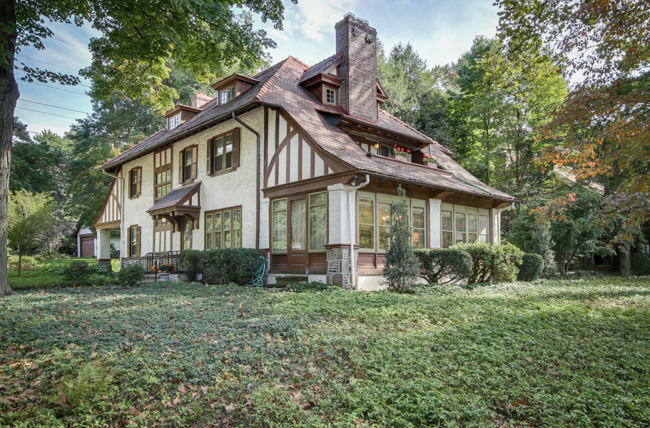 West Mt. Airy Tudor with delightful treehouse asks $850K