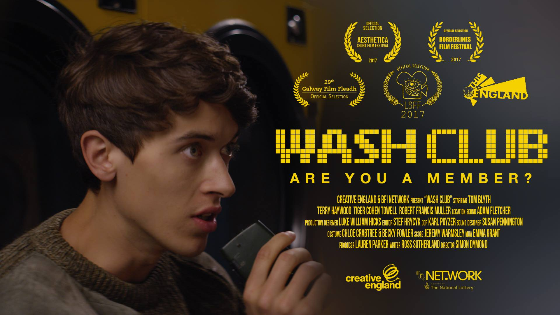 One of my Production stills used as the poster for the short film WashClub!