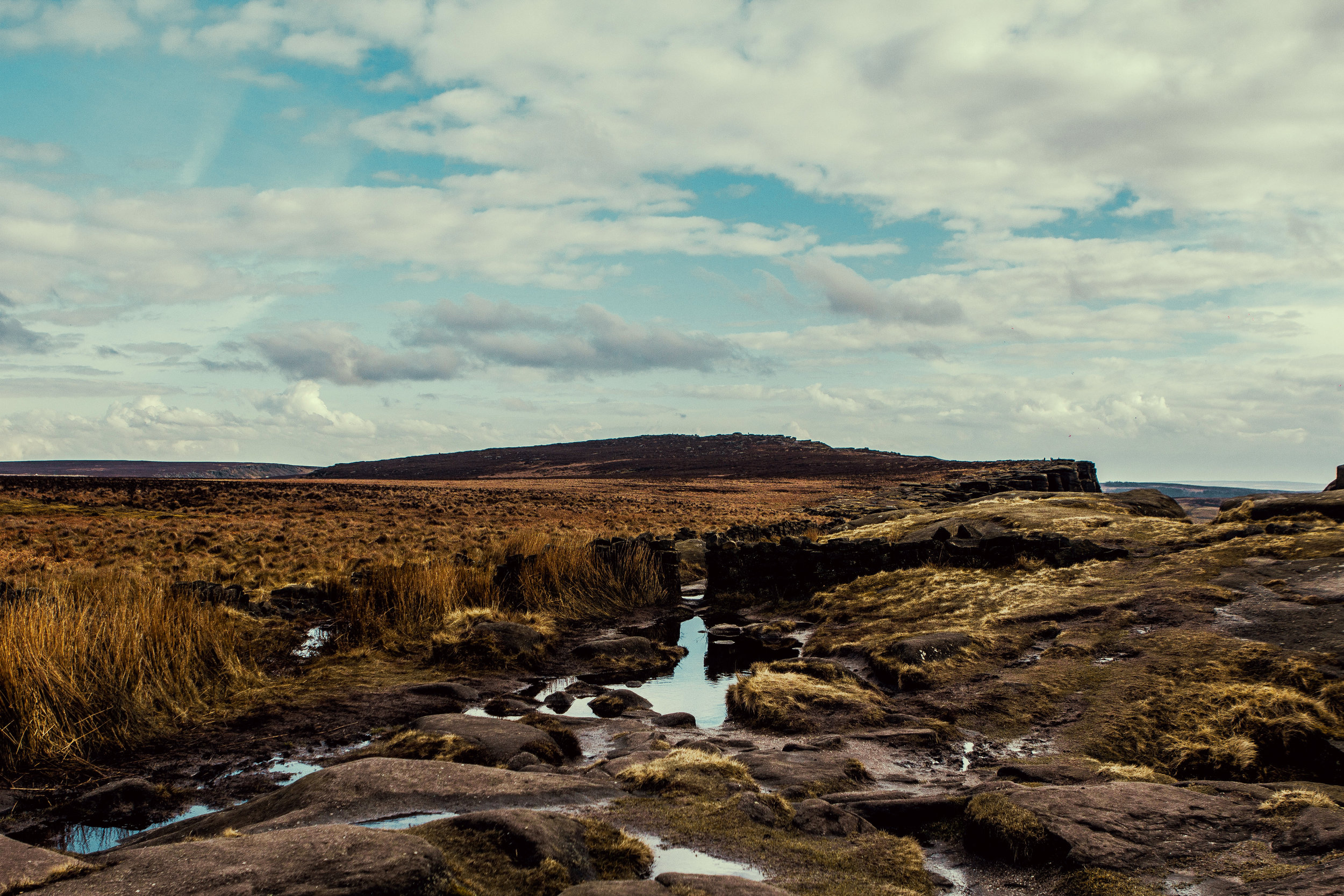 View from the tops of Stanage Edge