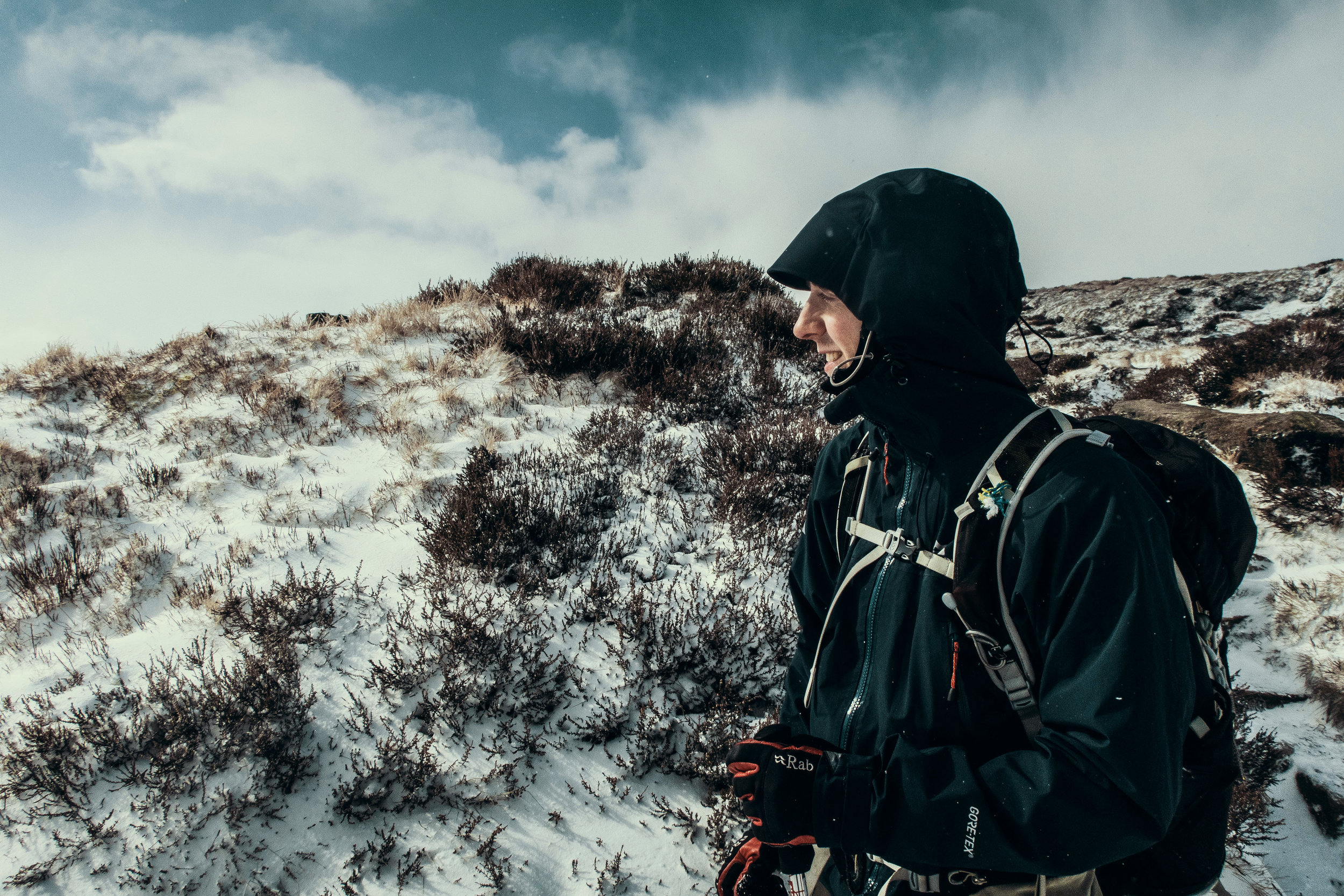 Dave up on the tops of Kinder Scout