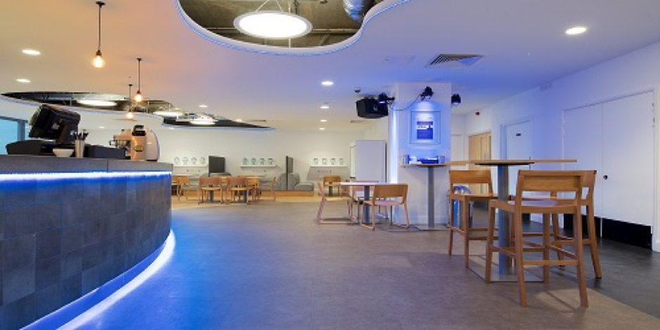 Leeds College of Music Café - As well as the bar space on the top floor, the floor below at Leeds College of Music has a café area with seating for a further 75 people total. Coffee, Tea, soft and alcoholic drinks, and snacks are purchasable throughout the day.