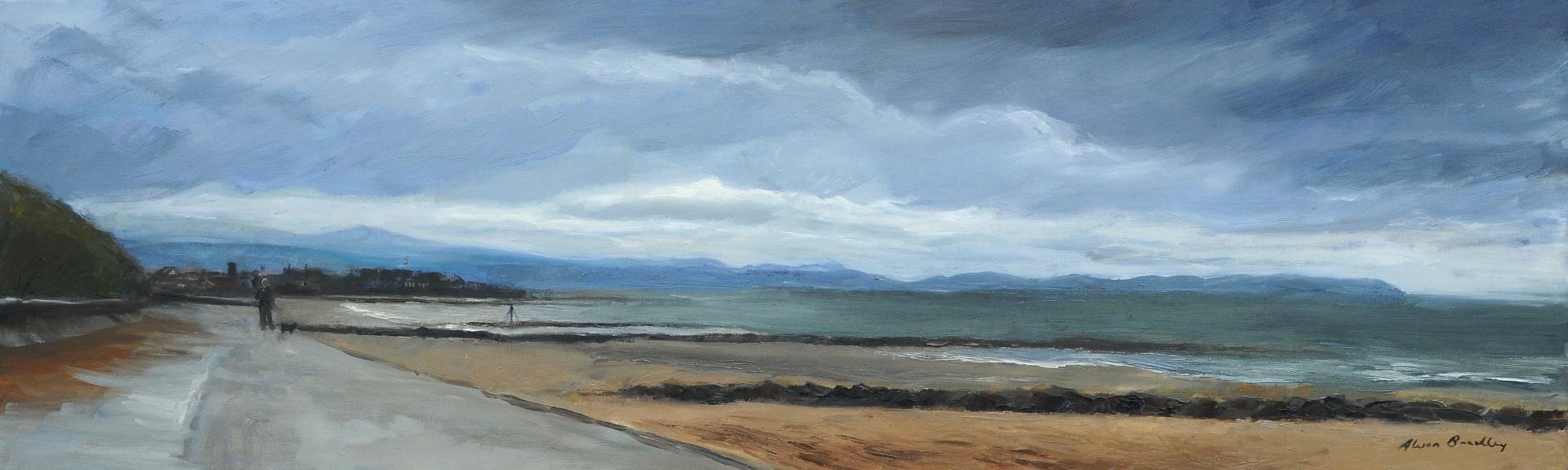 Autumn Clouds, Prestatyn, Oil on Canvas
