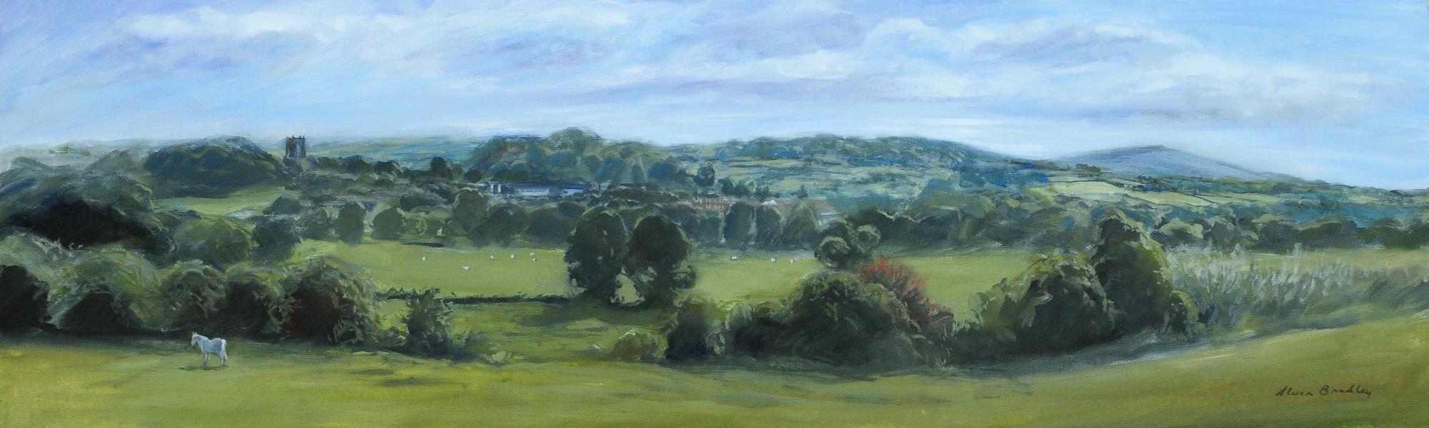 Yr Wyddgrug a Moel Famau, OIl on Canvas