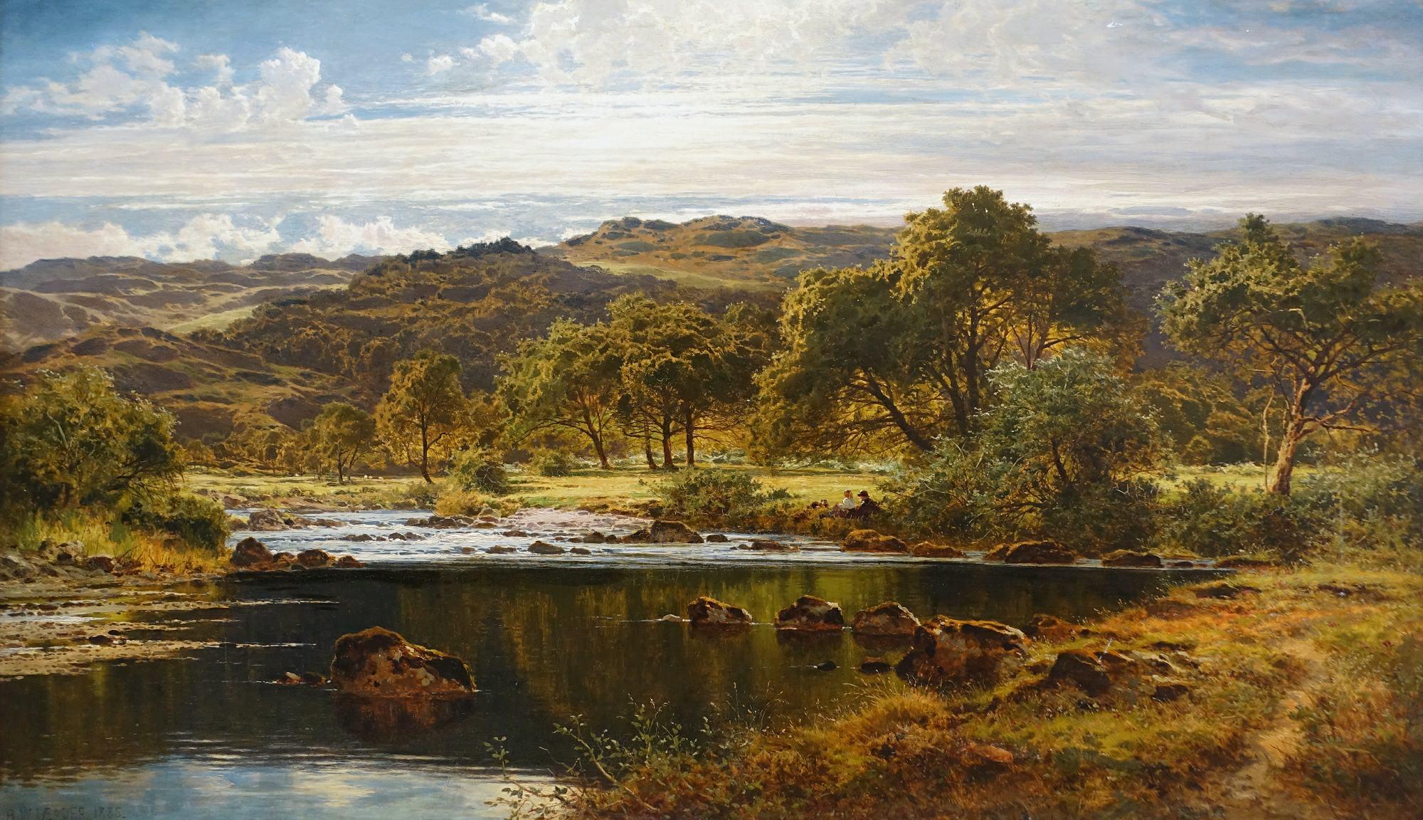 """""""A Bright Afternoon, North Wales"""" door Benjamin Williams Leader"""