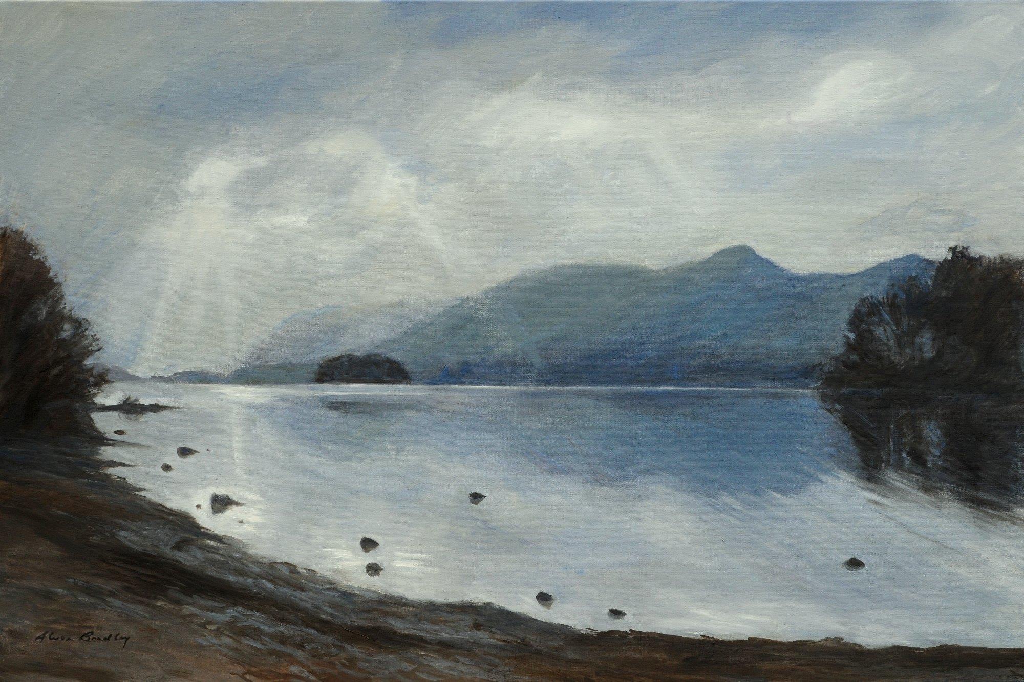 Het Lake District in olieverf