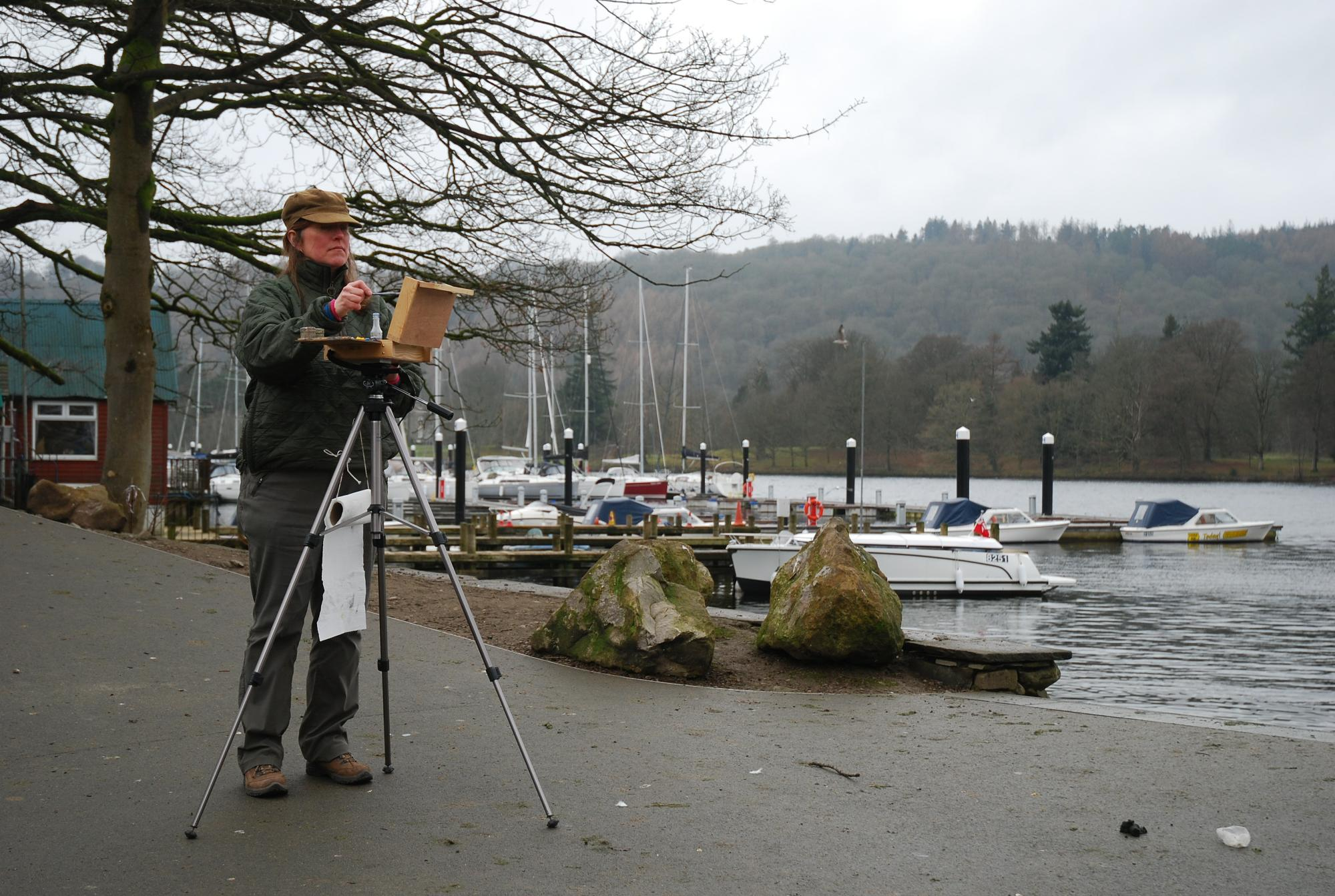 Sketching at Windermere