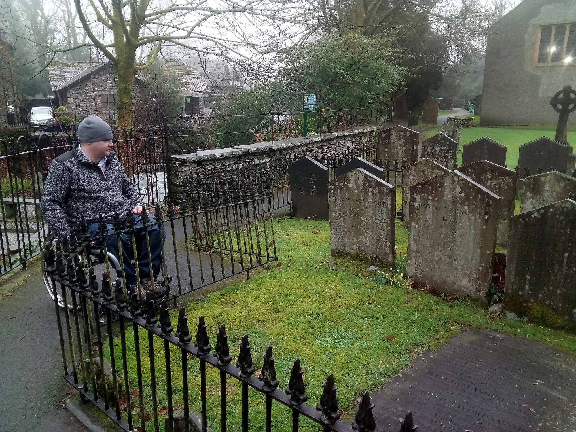 Jon at Wordsworth's grave