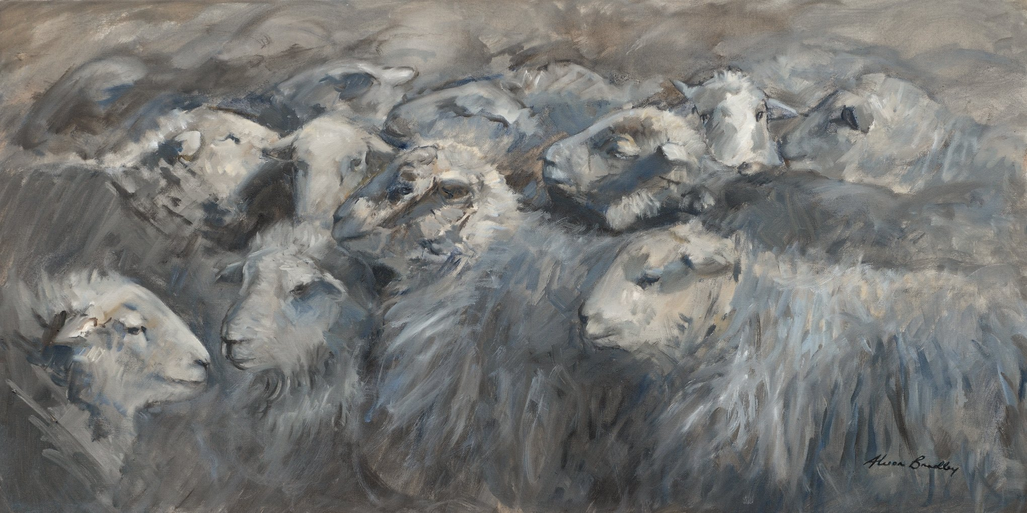 The Gathering, oil on canvas