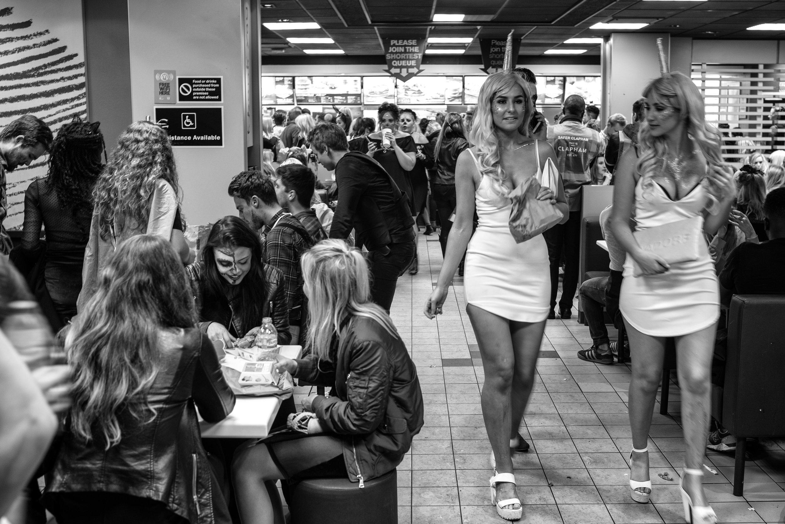 Saturday night 1.40am.  Fast food unicorns