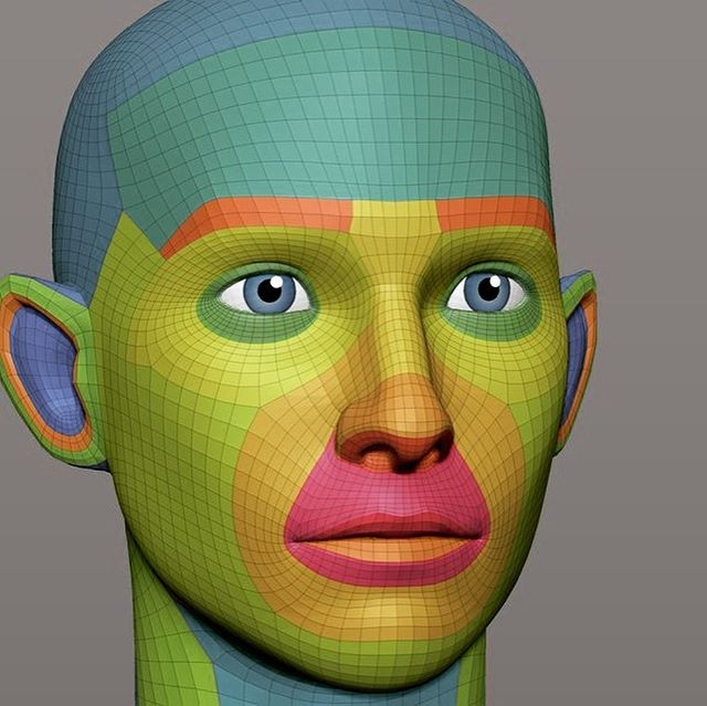 A few pics of the mesh I use for my stylized characters. #zbrush #3dart