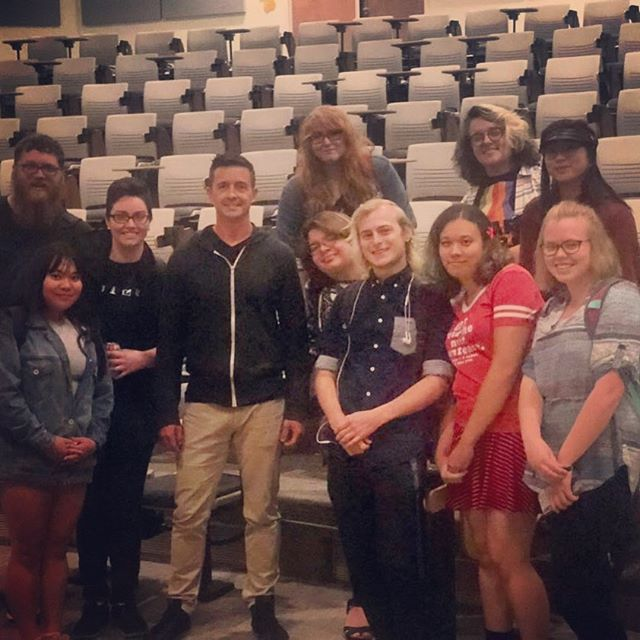 Look at this pic straight outta the 80's! I didn't even use my crappy phone to take it. Had a great time presenting to this group of students and others at UC Denver.