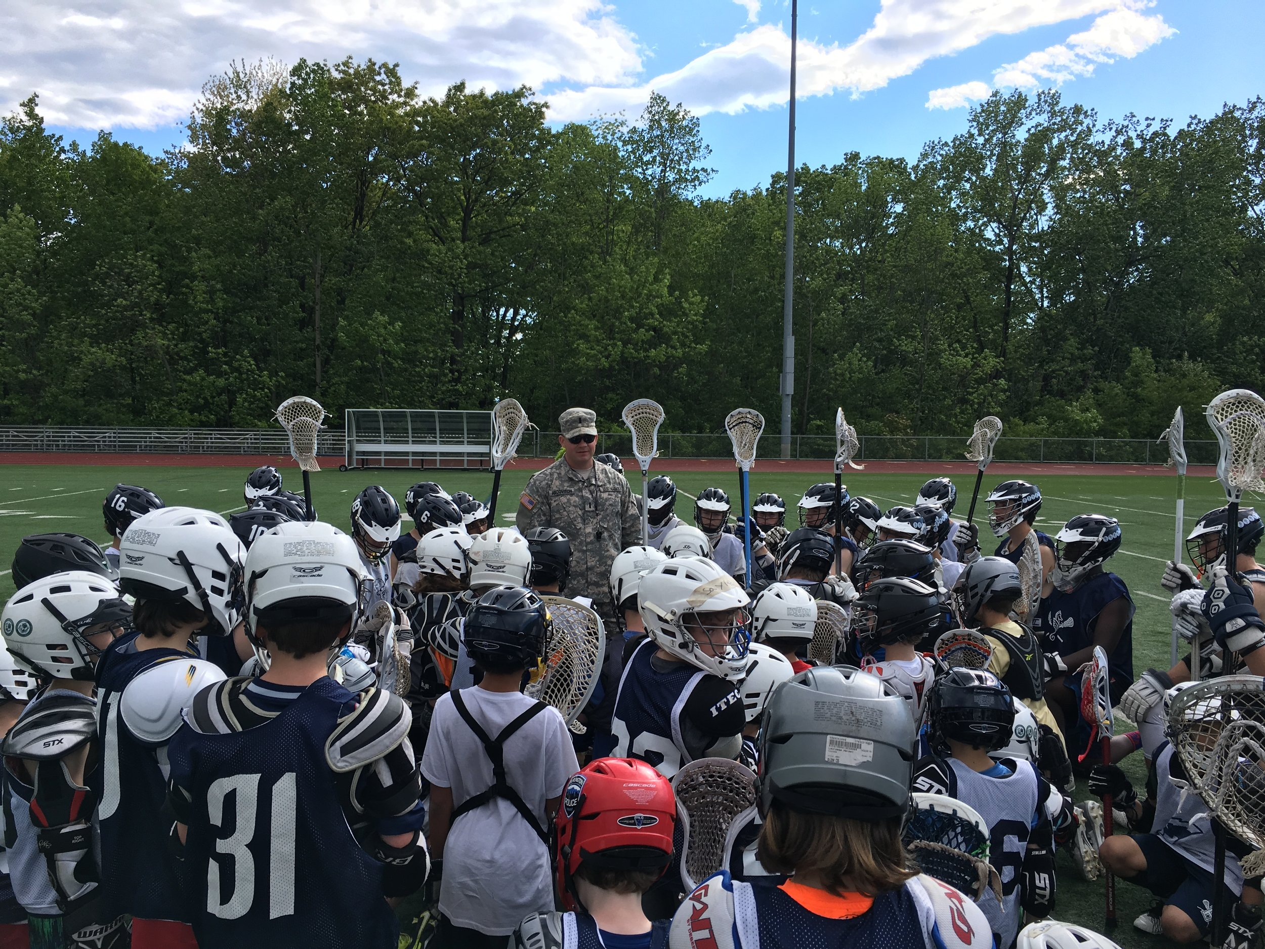 Coach Arco of the BHS Varsity Team speaking to our boys May 31, 2016