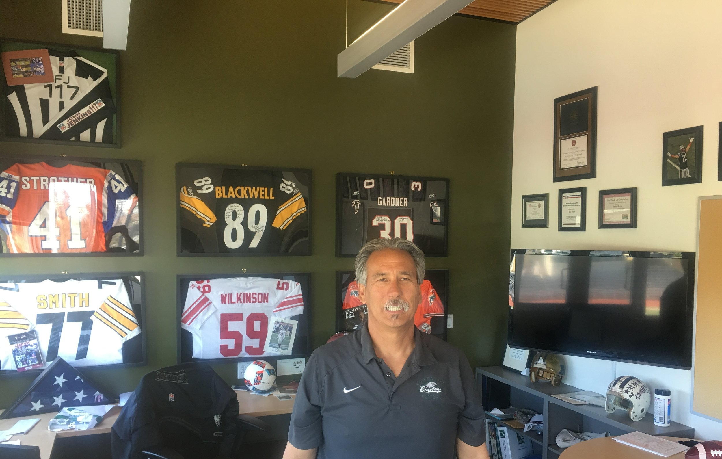 Athletics Director and Head Football Coach, John Beam