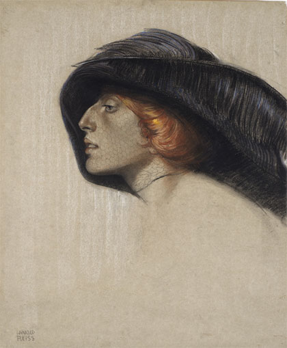 "Henriette Reiss   by     Winold Reiss, 1912 Pastel on paper, 23 1/2"" x 19 1/8"""