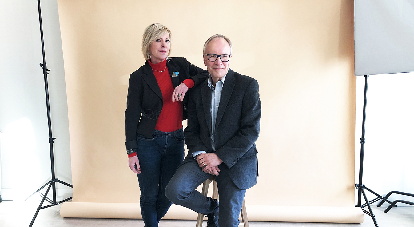 LISA MONFORTON AND DOUG FIRBY OF BIG TREE COMMUNICATIONS PHOTO: STUDIO 1130 BY SHANNON HEWLKO