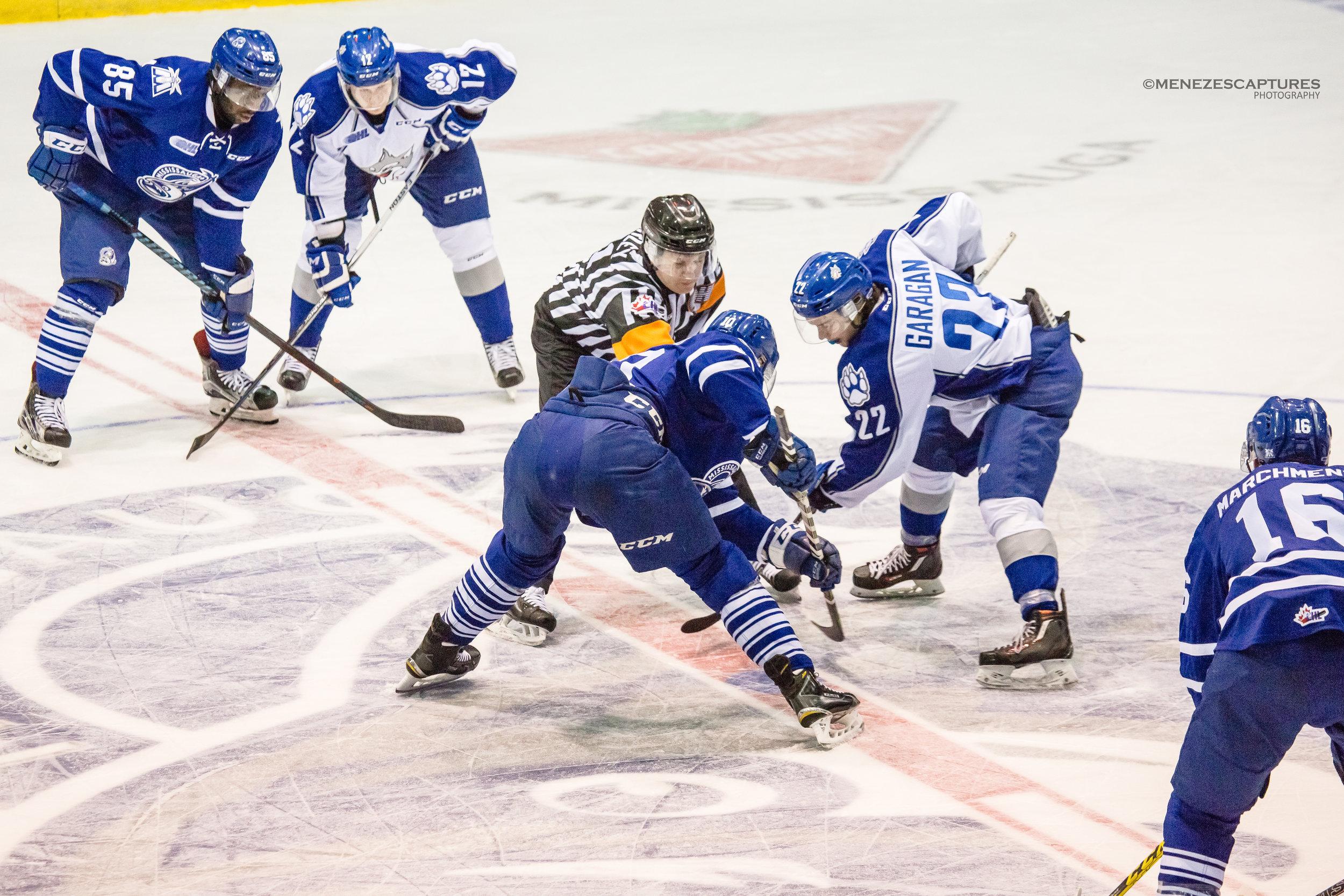 Mississauga Steelheads puck drop versus the Sudbury Wolves (2017)
