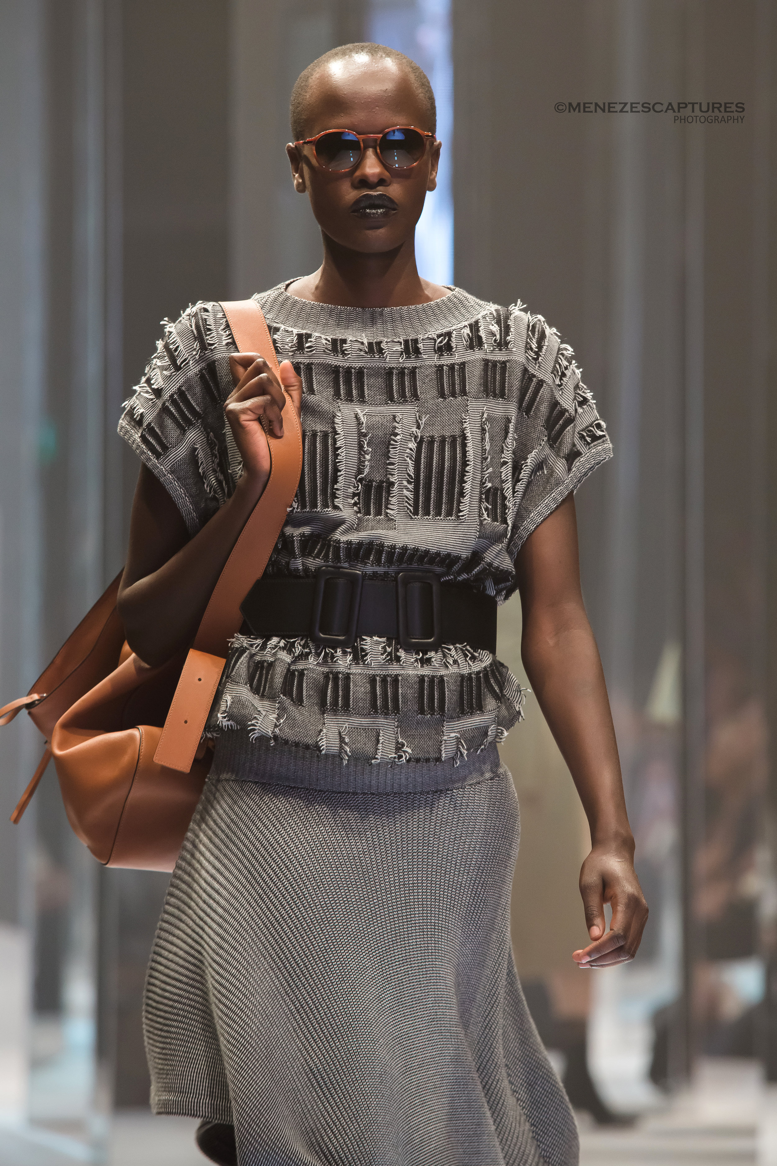 A model struts the runway at the Nordstrom Eaton Centre Opening (2016)