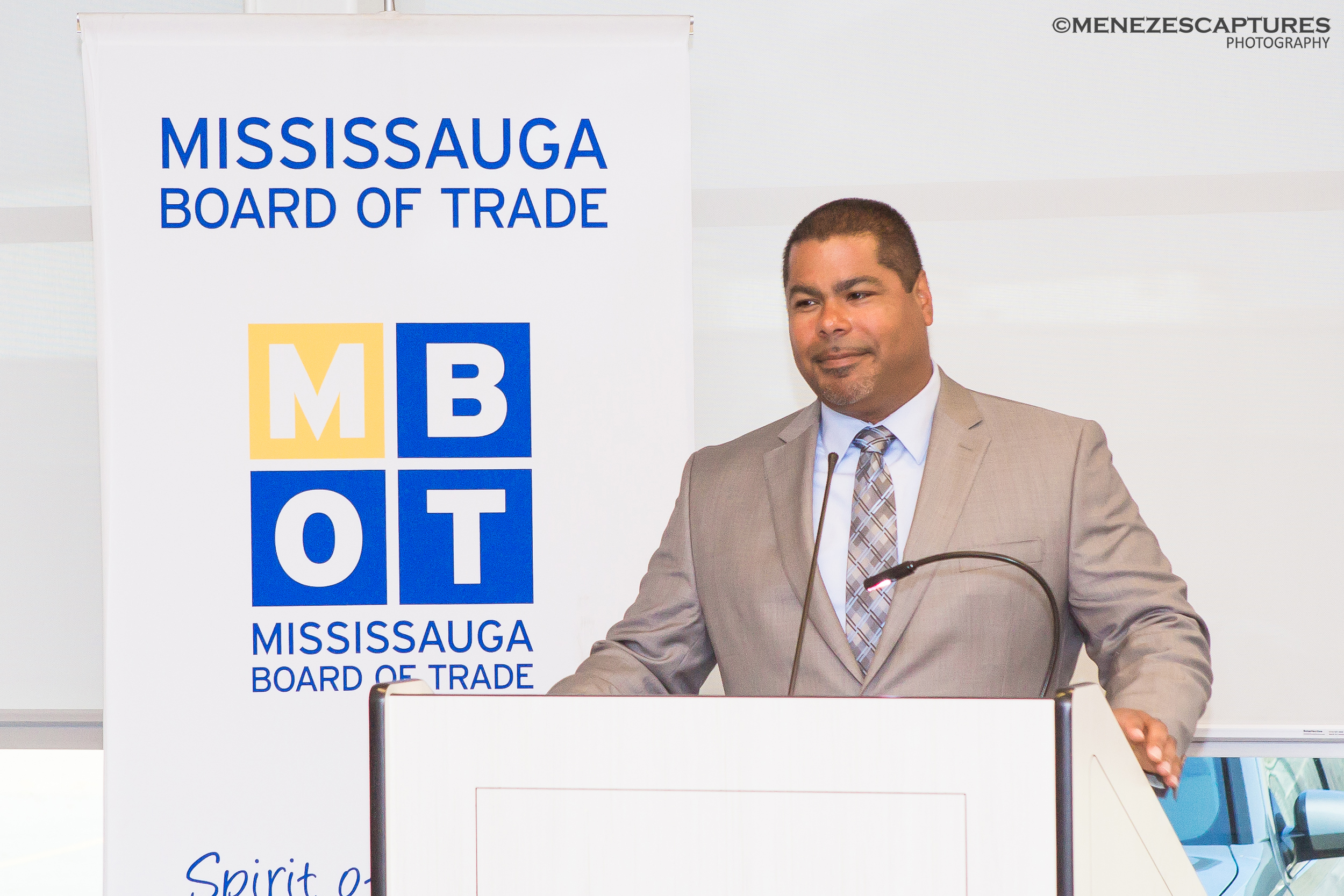 MBOT CEO addresses guests at an event (2015)