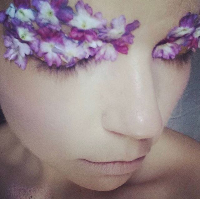 #flashbackfriday #makeupbyjilleclarkmua #selfportrait #makeuptest #losangeles #losangelesmakeupartist #flowers #dewymakeup #violet #soft I love working with flowers as a makeup medium and since it's the first day of Summer #summersolstice I thought bring this little gem out. I always work out my ideas on myself first before a shoot. Also there are going to be some flower magic on the way. Happy first day of Summer!