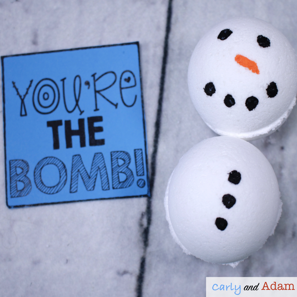 Snowman Bath Bomb STEM Activity