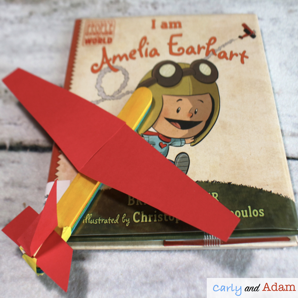 I am Amelia Earhart Build an Airplane STEM