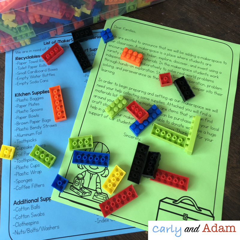 Start a Makerspace Parent Letter and List of Supplies